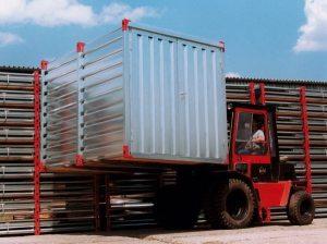 Manutention du container de stockage en kit monté